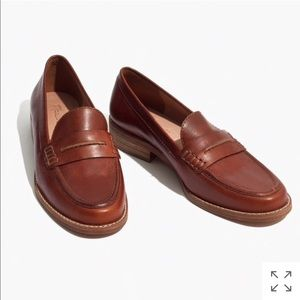 Madewell Elinor loafer in Leather Dark chestnut